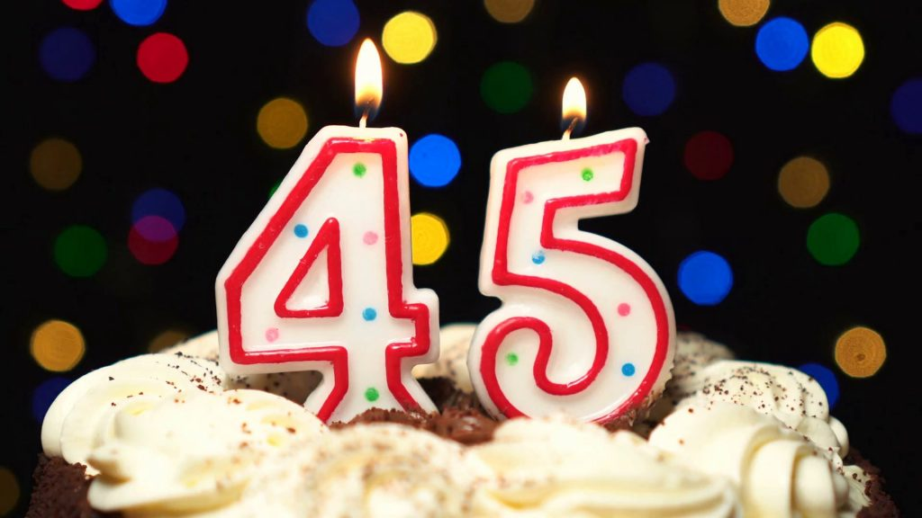 С юбилеем 45 лет торт