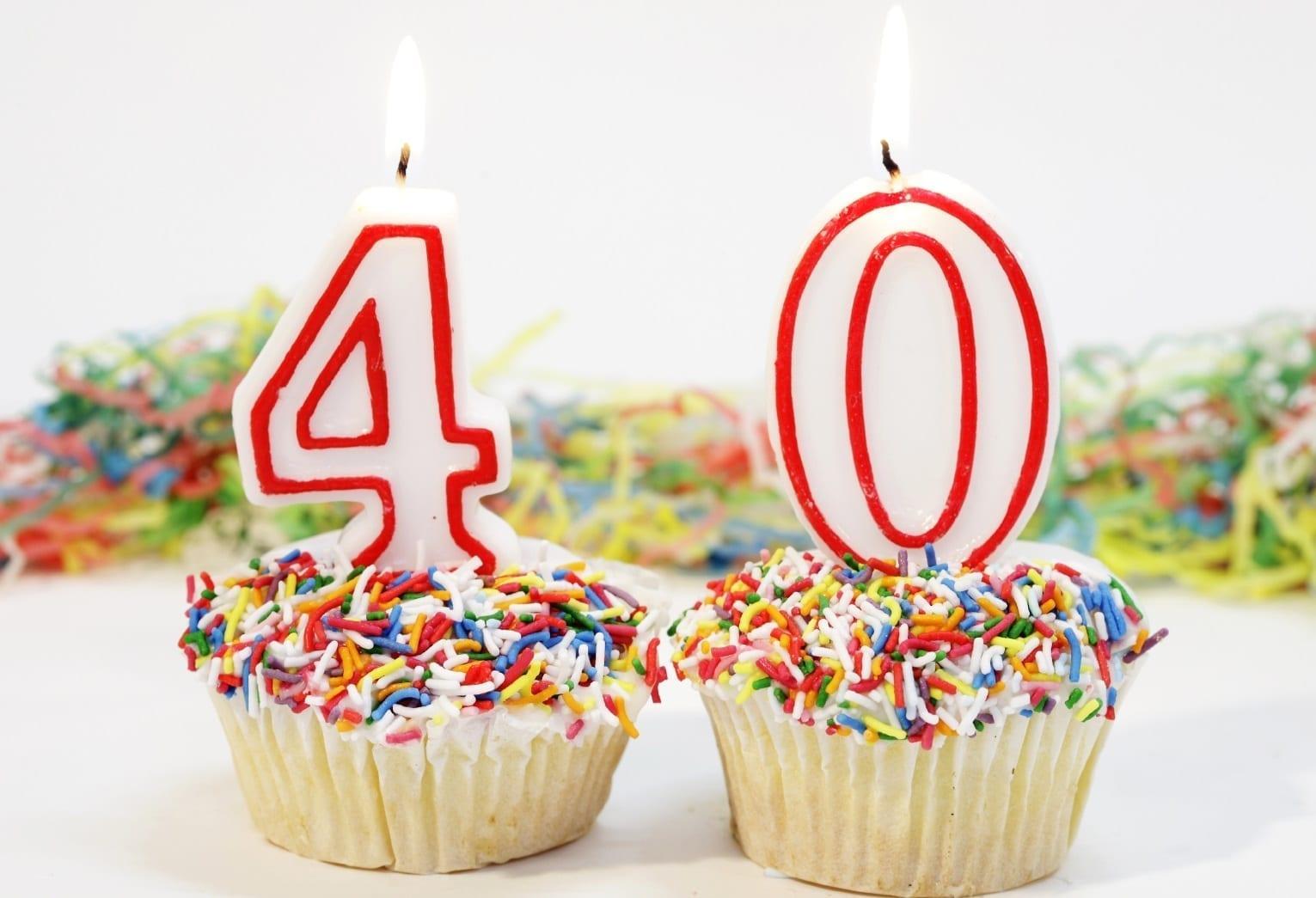 Поздравление с юбилеем 40 лет