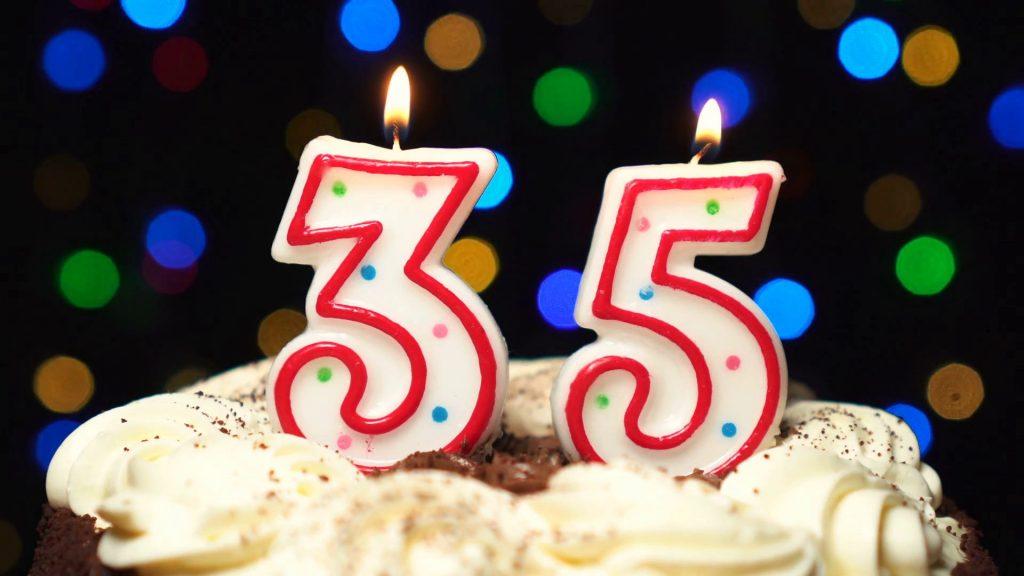 Торт с юбилеем 35 лет