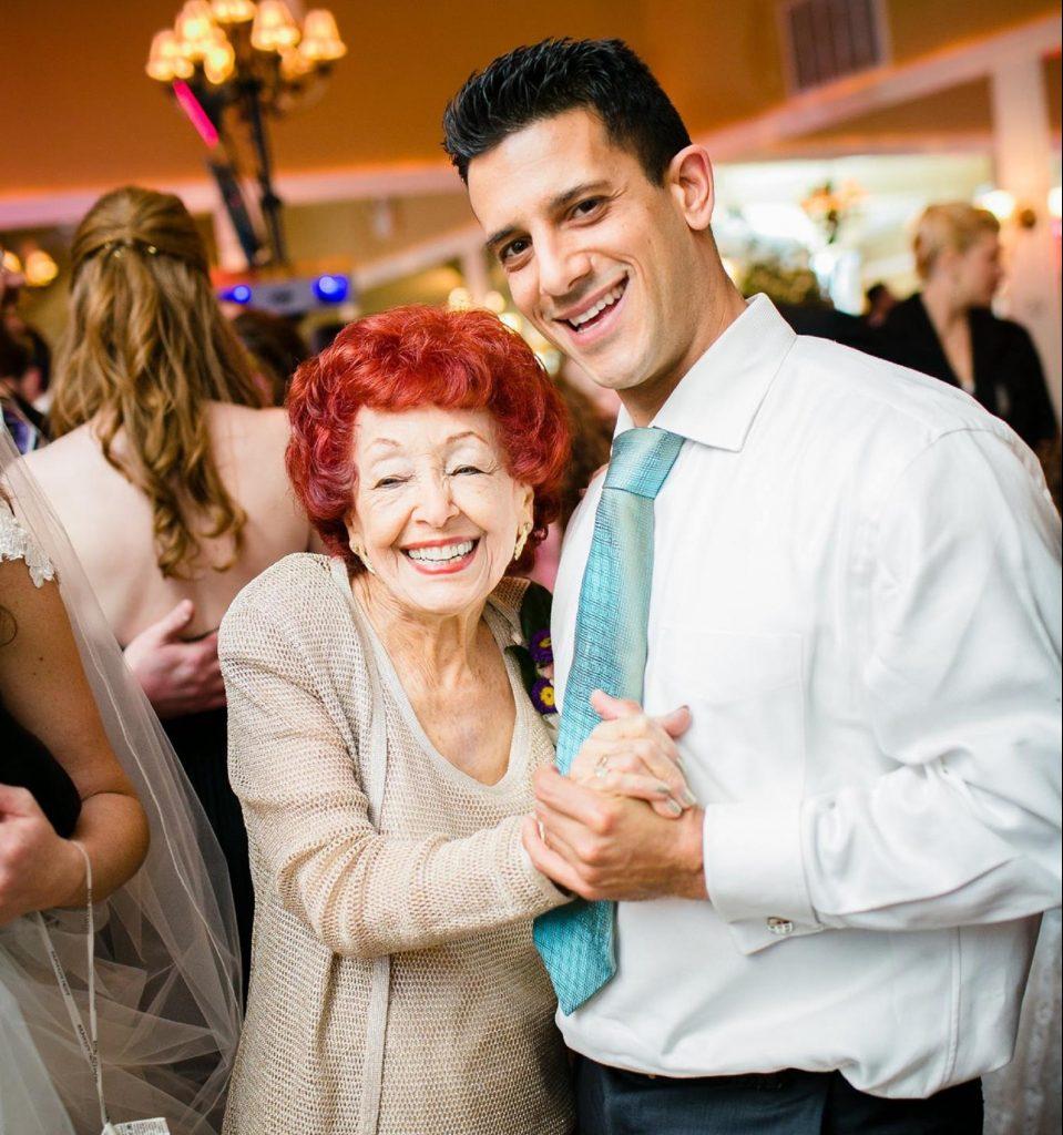 Поздравление с семидесятилетием - внук с бабушкой