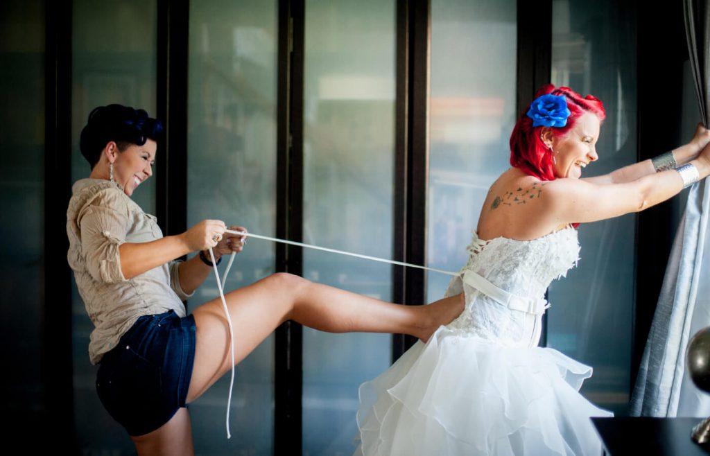 Подготовка невесты к бракосочетанию