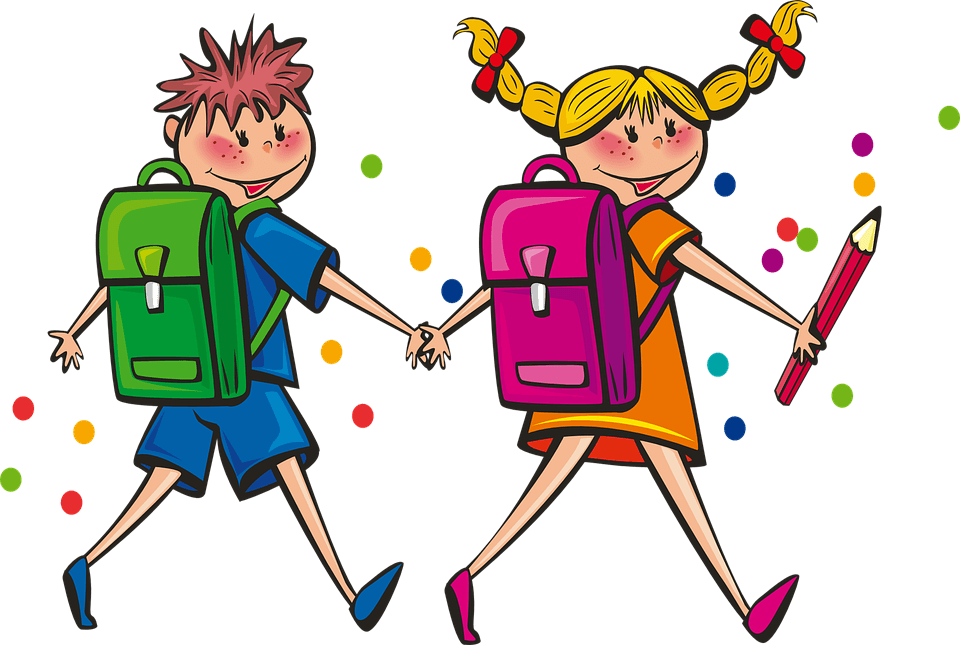 Картинка веселые школьники