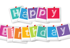 Happy Birthday colored letters